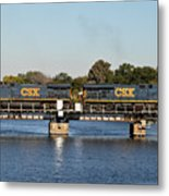 Csx On Mills Bayou Metal Print