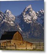 Cunningham Cabin In Front Of Grand Metal Print