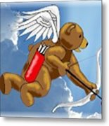 Cupid Bear Metal Print
