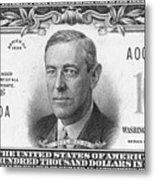 Currency: 100,000 Dollar Bill Metal Print