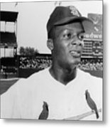 Curt Flood (1938- ) Metal Print