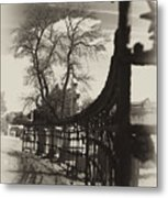 Curved Gate Metal Print