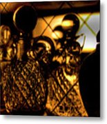 Cut Glass Metal Print