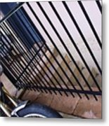 Cycle And Stairs I Metal Print