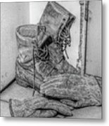 Dads Boots Metal Print