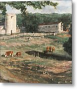 Dairy Farm On Route 34 Metal Print