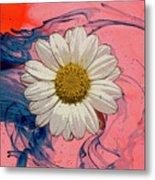 Daisy Swirls 1 Metal Print