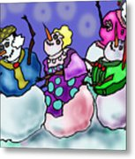 Dance Of The Snow People Metal Print