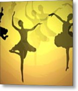 Dance With Us Into The Light Metal Print
