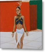Dancer In Costume Metal Print
