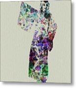 Dancing In Kimono Metal Print by Naxart Studio