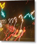 Dancing Light Streaks Metal Print