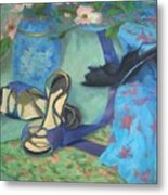 Dancing Shoes And Dogwoods Metal Print