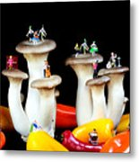 Dancing Show On Mushroom Metal Print