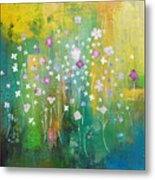 Dancing Wildflowers Series Metal Print