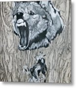 Dancing With The Spirit Of The Wolf Metal Print by KeMonee Casey