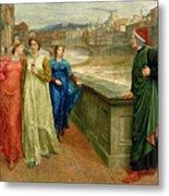 Dante And Beatrice Metal Print