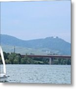 Danube River Sailor Metal Print