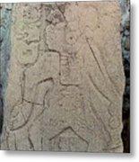 Danzantes Stone Carving Metal Print