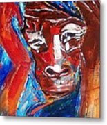 Darfur - She Cries Metal Print
