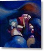 Dark Blue Metal Print by Fanny Diaz