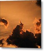 Dark Clouds Looming Metal Print