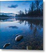 Dawn At River Metal Print by Davorin Mance