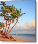 Dawn In Punta Cana Metal Print