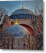 Dawn Over Hagia Sophia Metal Print by Joan Carroll