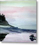 Dawn Over Lindisfarne. Metal Print