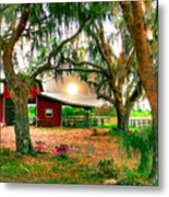 Dawning At The Barn Metal Print