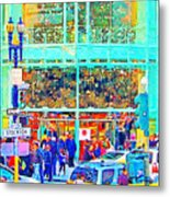Day Before Christmas At Neiman Marcus . Photoart Metal Print