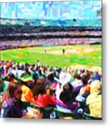 Day Game At The Old Ballpark Metal Print