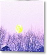 Day Light Moon Metal Print