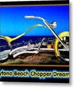 Daytona Beach Chopper Dreaming Yellow Gold Jgibney The Museum Metal Print