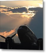 Dc-3 On Sunrise 1 Metal Print by Maxwell Amaro