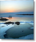 Dead Sea Shallow Waters At Dawn Metal Print