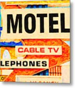 Deanos Motel Metal Print by Wingsdomain Art and Photography