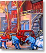Debullion Street Hockey Stars Metal Print
