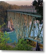 Deception Pass Bridge Br-8943 Metal Print