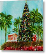 Delray Beach Christmas Tree Metal Print