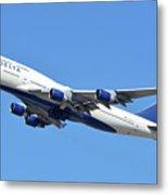 Delta Boeing 747-451 N667us Phoenix Sky Harbor October 7 2017  Metal Print