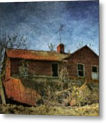 Derelict House Front Metal Print