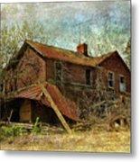 Derelict House Side Metal Print