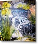 Descanso Waterfall Metal Print