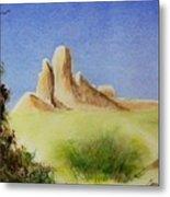 Desert Butte Metal Print