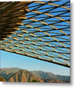 Desert Grid Metal Print