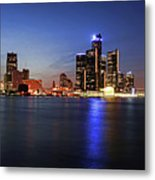 Detroit Skyline 1 Metal Print