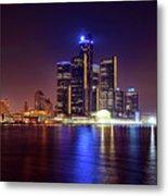 Detroit Skyline 4 Metal Print