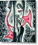 Devilicious Boot Metal Print
